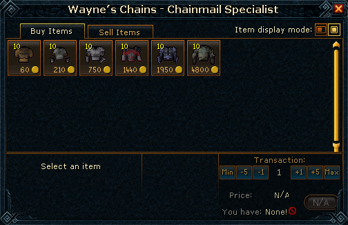 Wayne's Chainmail Shop