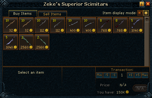 Zeke's Superior Scimitars