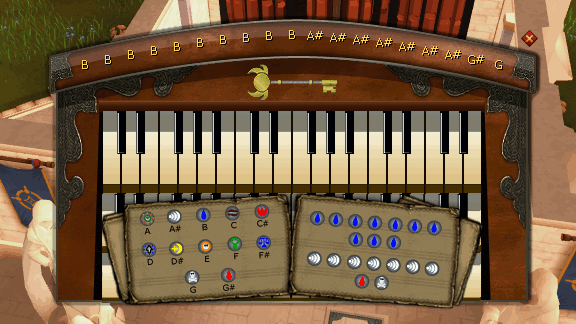 Organ Keybord with Diagrams