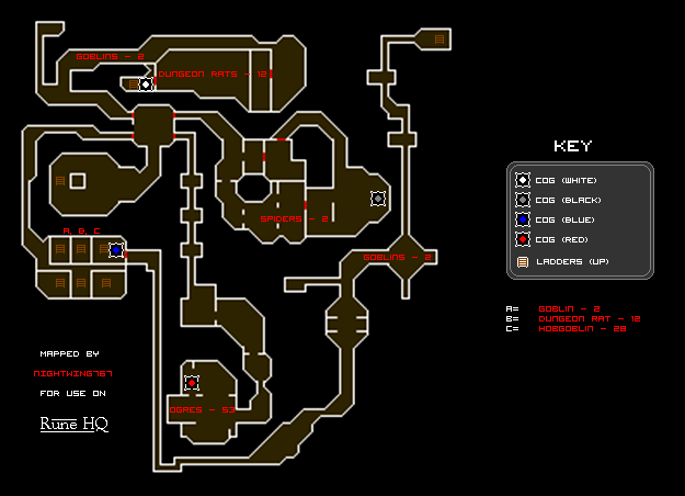 Clock Tower Dungeon Map
