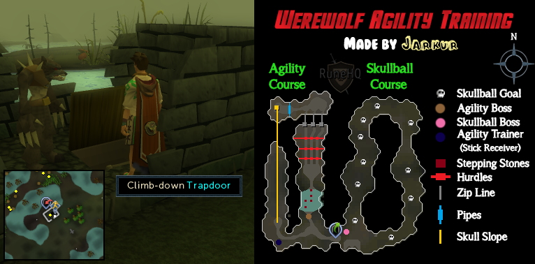 Werewolf Agility Course and Skullball