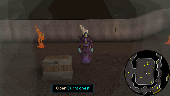Burnt chest