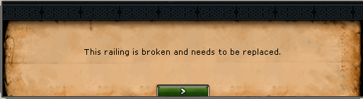 Broken Railing message
