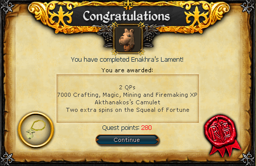 Quest Complete Scroll