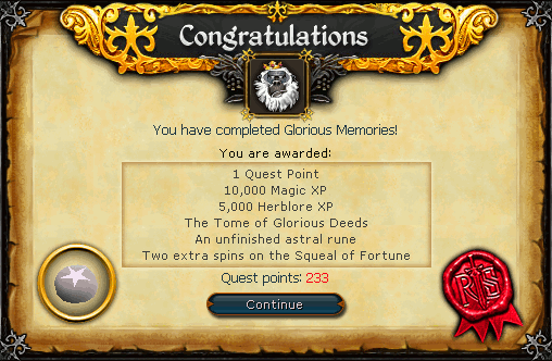 Glorious Memories Completed