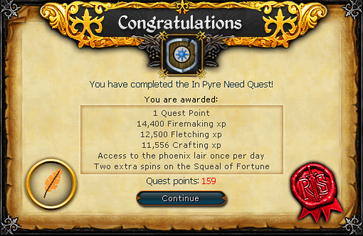 In Pyre Need Quest Complete