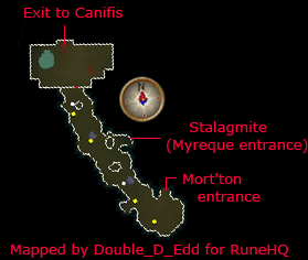 Tunnel Map and Stalagmites