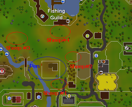 Map of Sheep locations