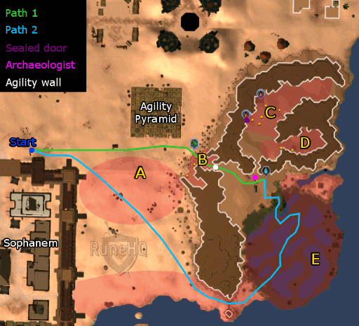 Desert map to tomb area