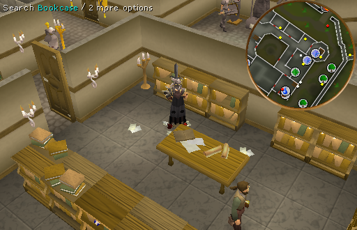 Bookcase in Varrock Library
