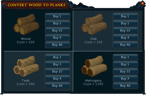 Buying your planks