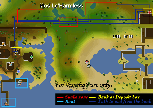 Snakehide on Moss le' harmless