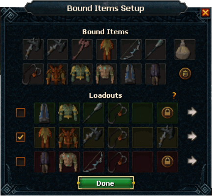 Bound Items