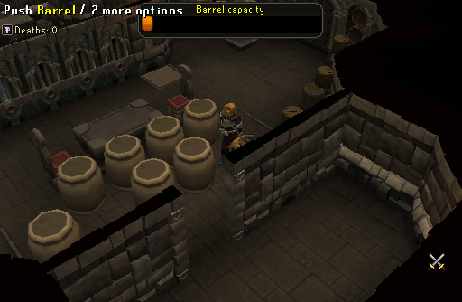 Barrel puzzle room