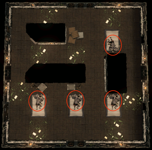 Sleeping brutes puzzle room