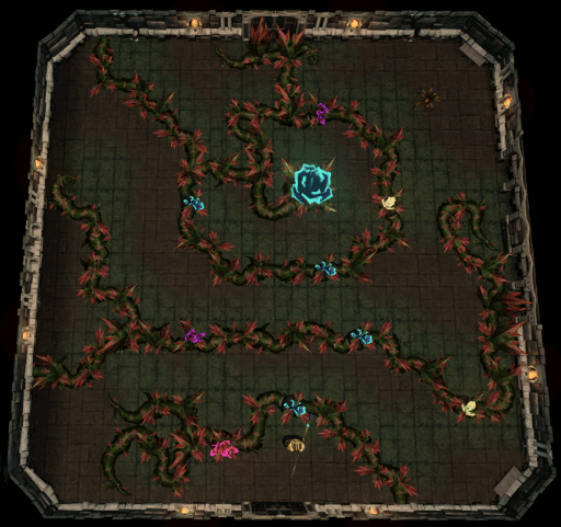 Vines and flower puzzle room