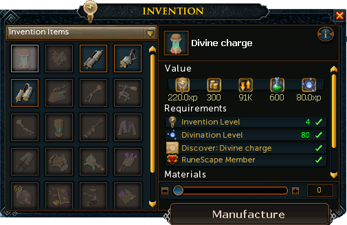 Invention - RuneScape Guide - RuneHQ
