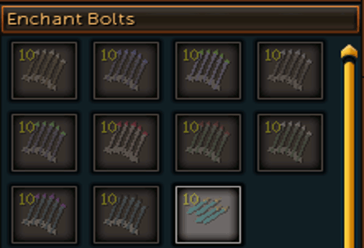 Enchanting Bolts Interface Screen