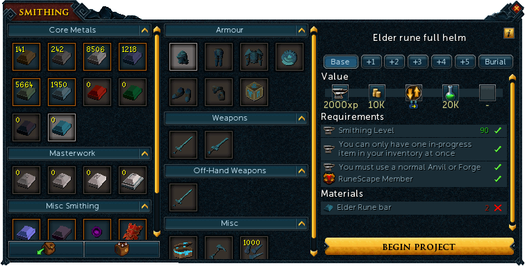 Smithing Options