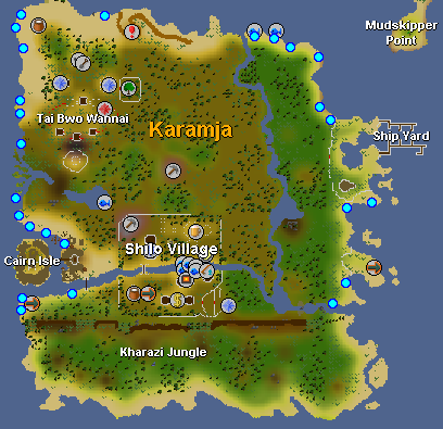 Karamja Seaweed Location