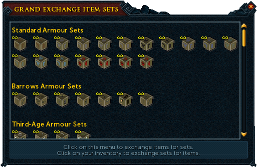 how to use armor set runescape