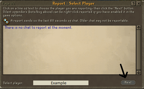 Report Abuse Screen