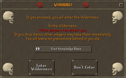 Wilderness Entering Warning