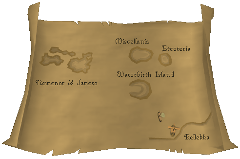 Route To Waterbirth Island