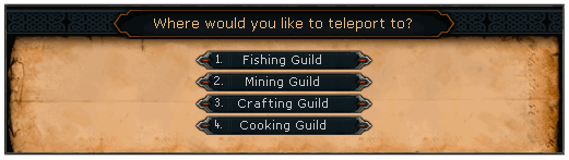 Skills necklace menu