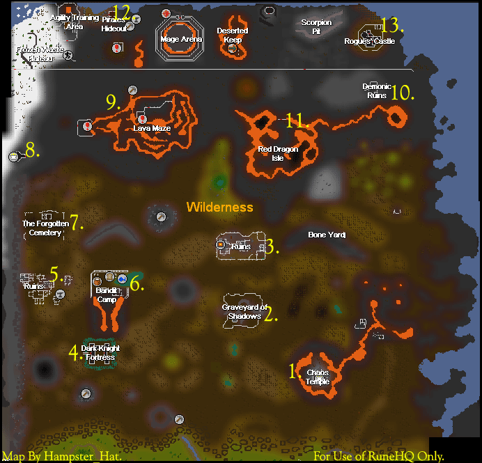 wilderness spawning and other guide runescape guide runehq