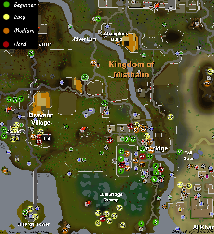 Lumbridge-Draynor Village Task Map