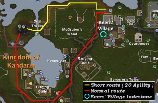 Coal Trucks Mine Map - RuneScape Guide - RuneHQ