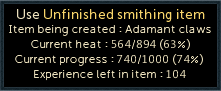 Unfinished Smithing Item